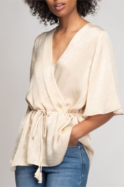 Naked Zebra  Belted Kimono Sleeve Blouse - Product Mini Image