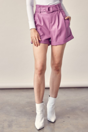 Idem Ditto  Belted Leather Short - Product Mini Image