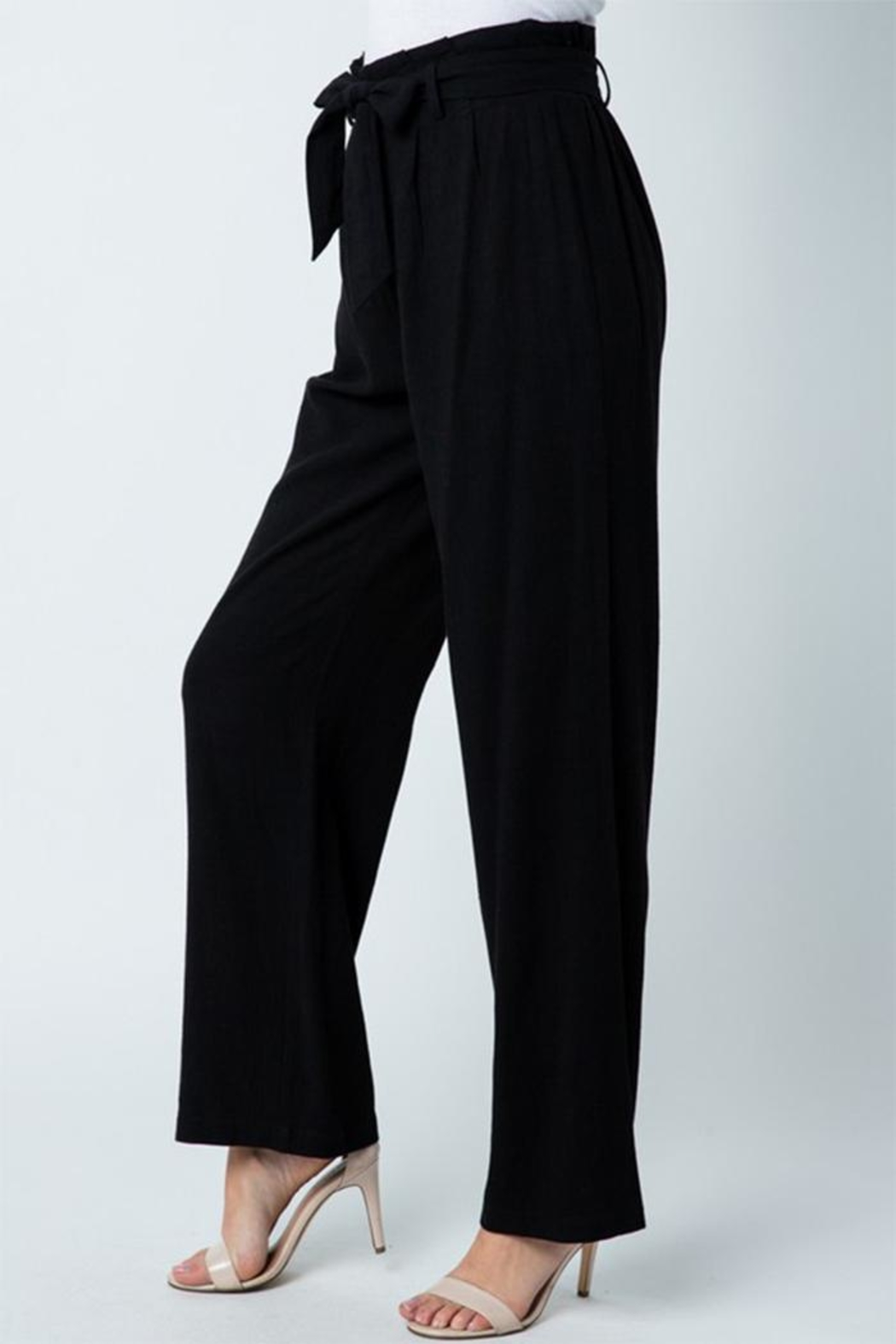 Style Rack Belted Linen Pants - Front Full Image