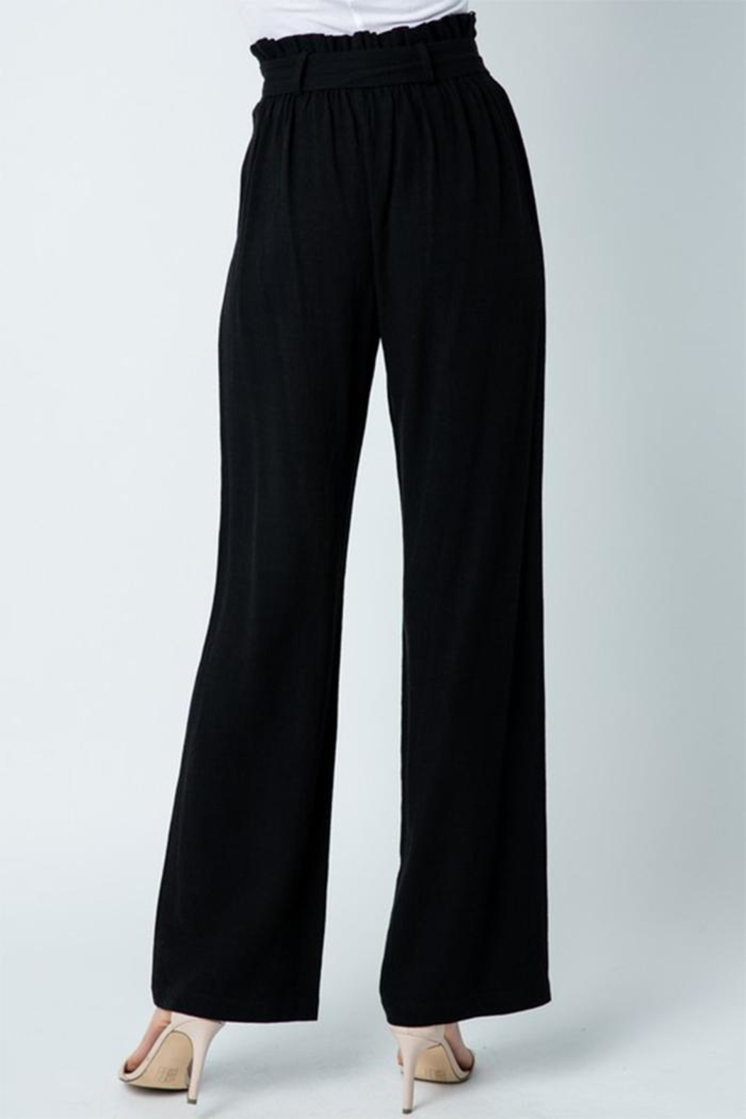 Style Rack Belted Linen Pants - Side Cropped Image