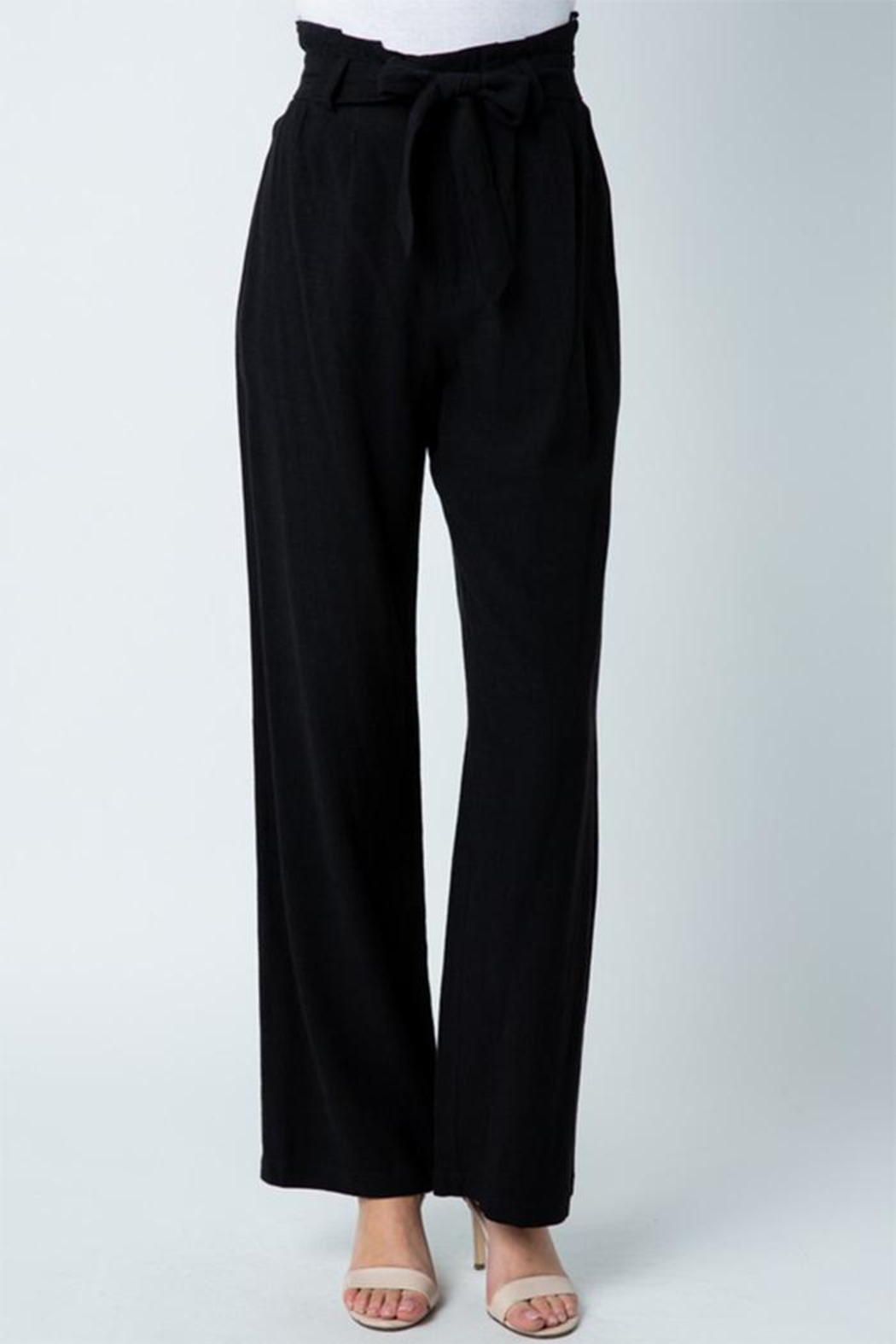 Style Rack Belted Linen Pants - Front Cropped Image