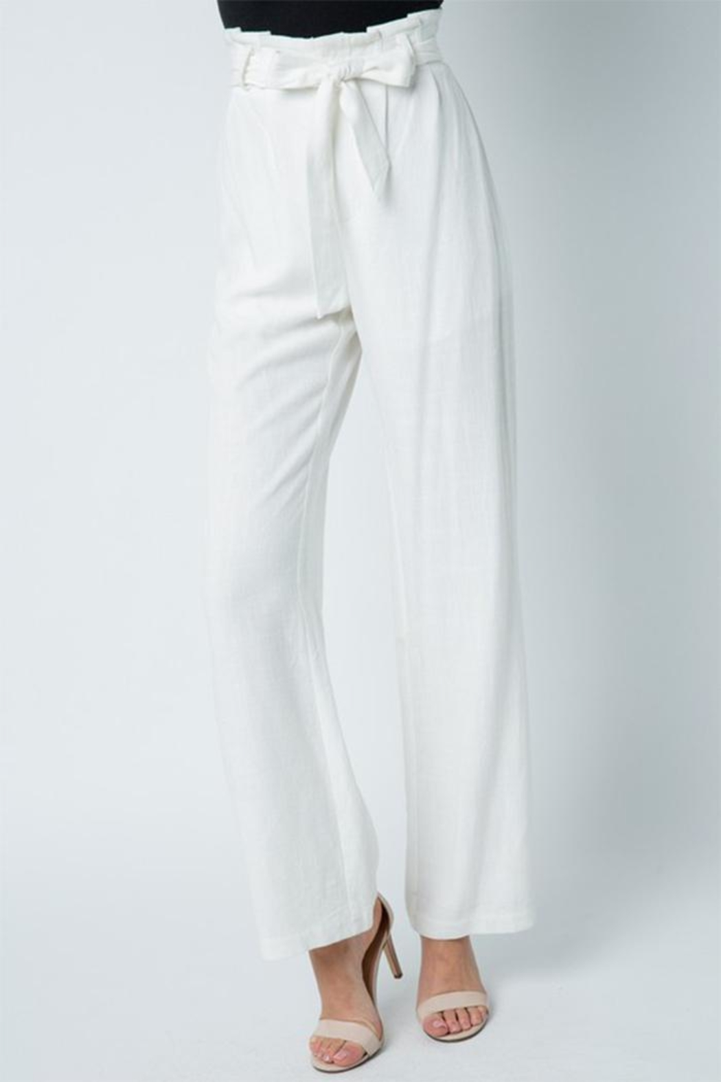 Style Rack Belted Linen Pants - Main Image