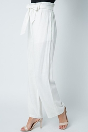 Style Rack Belted Linen Pants - Front full body