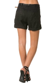 Milla Belted Linen Shorts - Front full body