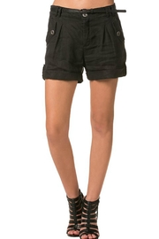 Milla Belted Linen Shorts - Front cropped