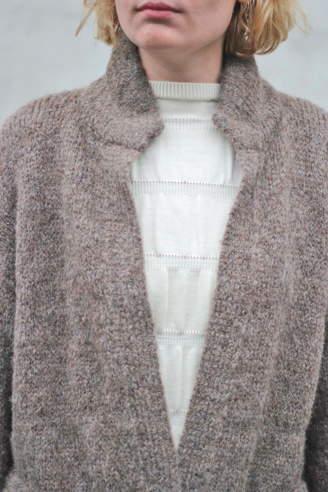 Wol Hide sweaters  Belted Long Cardigan - Front Full Image
