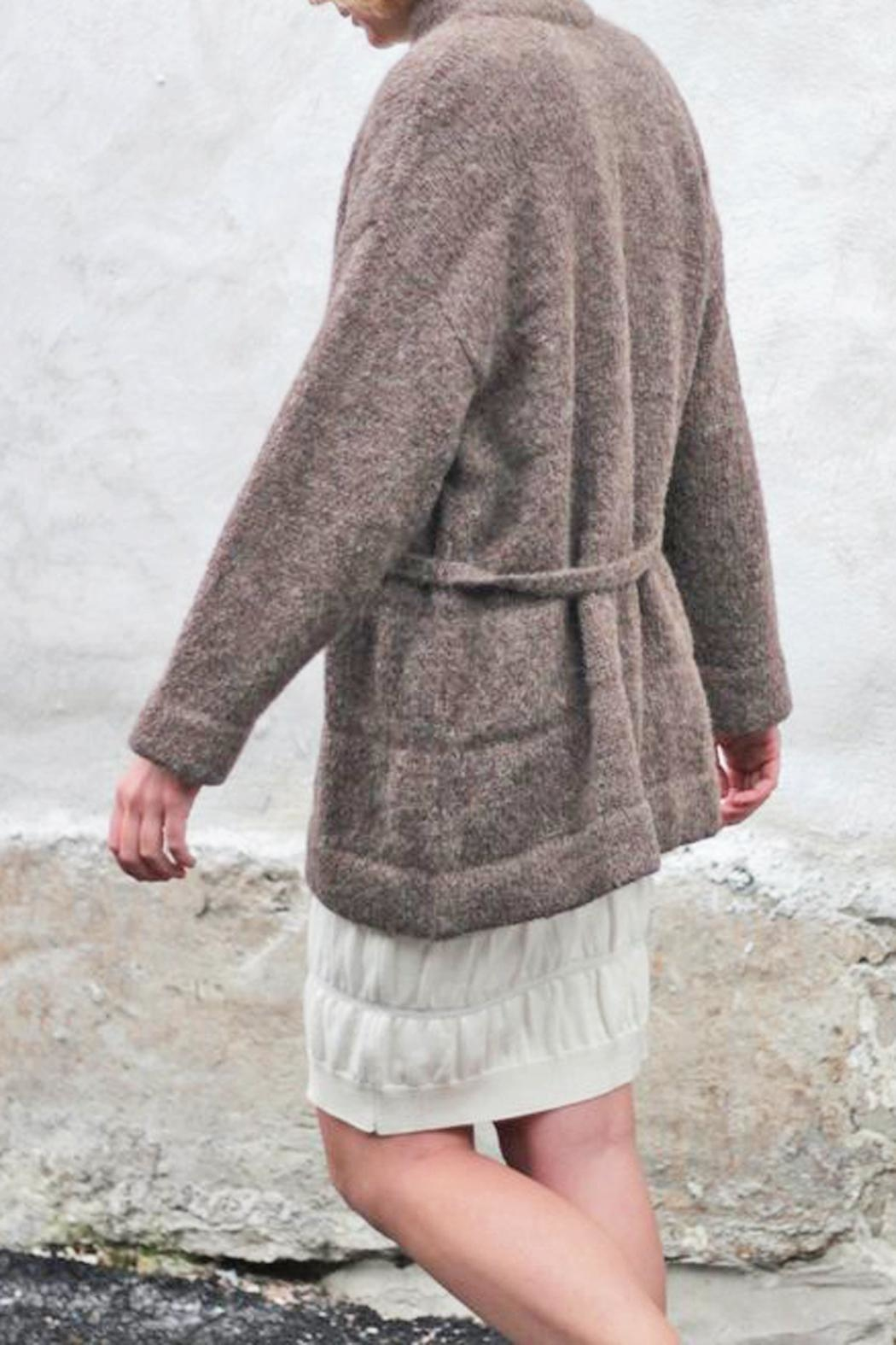 Wol Hide sweaters  Belted Long Cardigan - Side Cropped Image