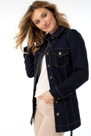 Liverpool  Belted Long Denim Jacket - Product Mini Image