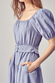 Idem Ditto  Belted Midi Dress - Back cropped