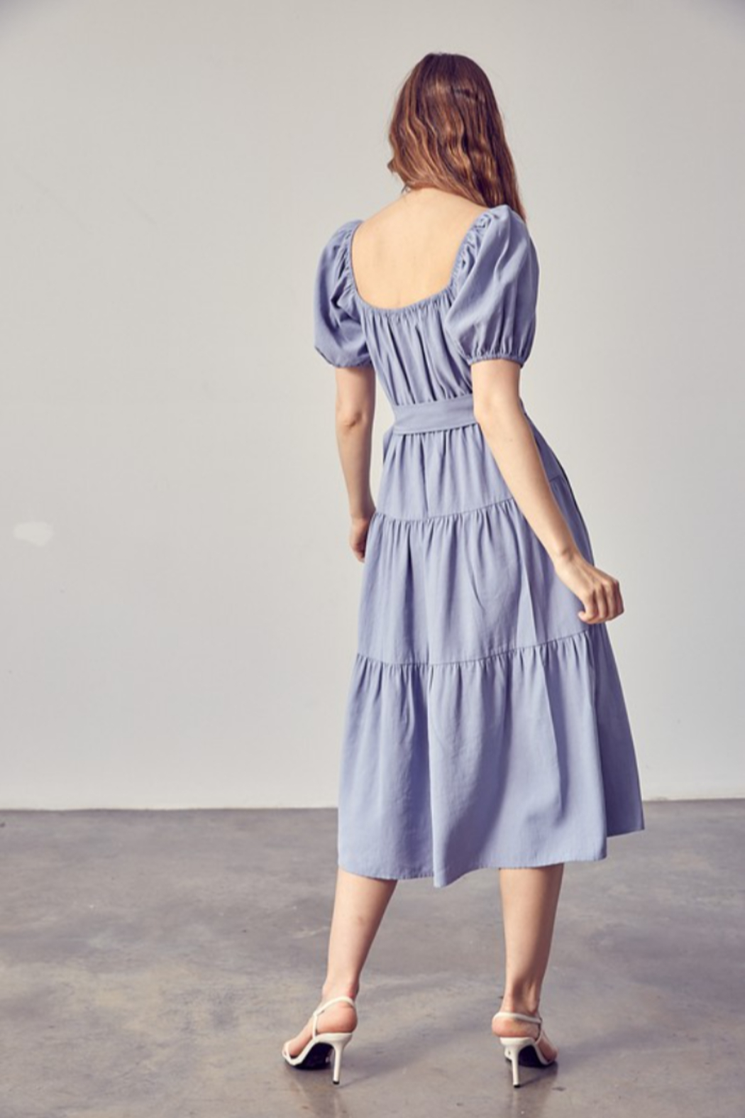 Idem Ditto  Belted Midi Dress - Side Cropped Image