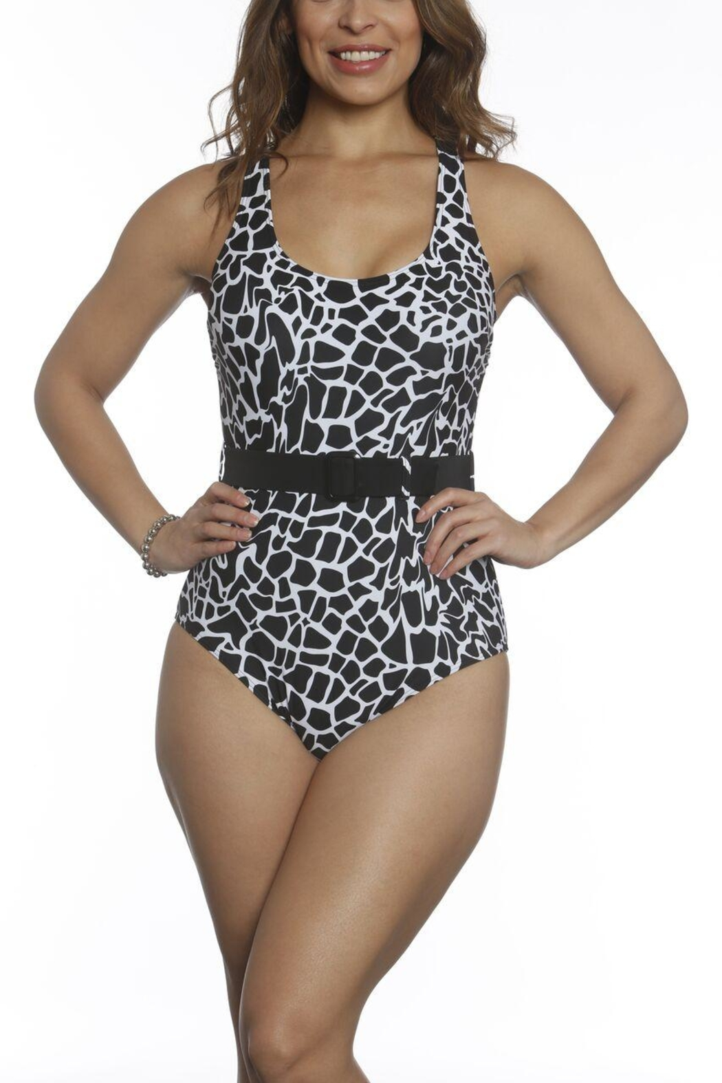 Sun & Sea Trading Company Belted One-Piece Swimsuit - Main Image