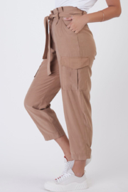 Dex BELTED PAPERBAG CARGO PANT - Front full body