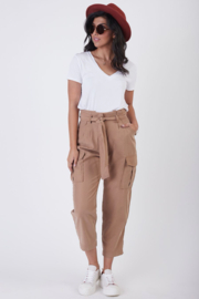 Dex BELTED PAPERBAG CARGO PANT - Product Mini Image