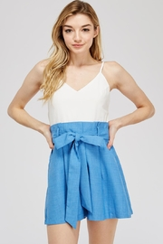 The Clothing Co Belted Paperbag Romper - Product Mini Image