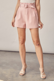 Idem Ditto  Belted Paperbag Waist Short - Front full body
