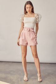 Idem Ditto  Belted Paperbag Waist Short - Front cropped