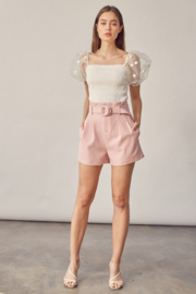 Idem Ditto  Belted Paperbag Waist Short - Other