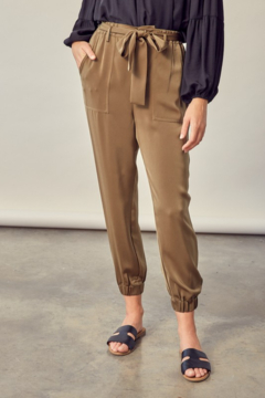 Mustard Seed  Belted Satin Pant - Product List Image