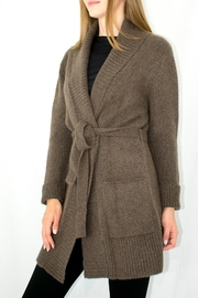Goyol Belted Shawl Cashmere - Front full body