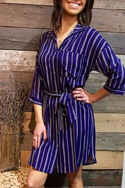 Lush  Belted Shirt Dress - Other
