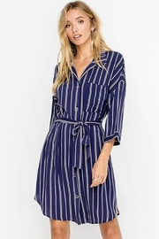 Lush  Belted Shirt Dress - Product Mini Image