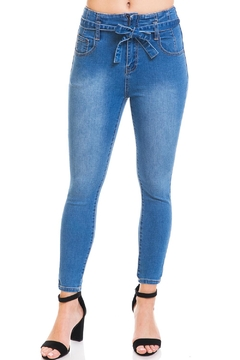 Shoptiques Product: Belted Skinny Jeans