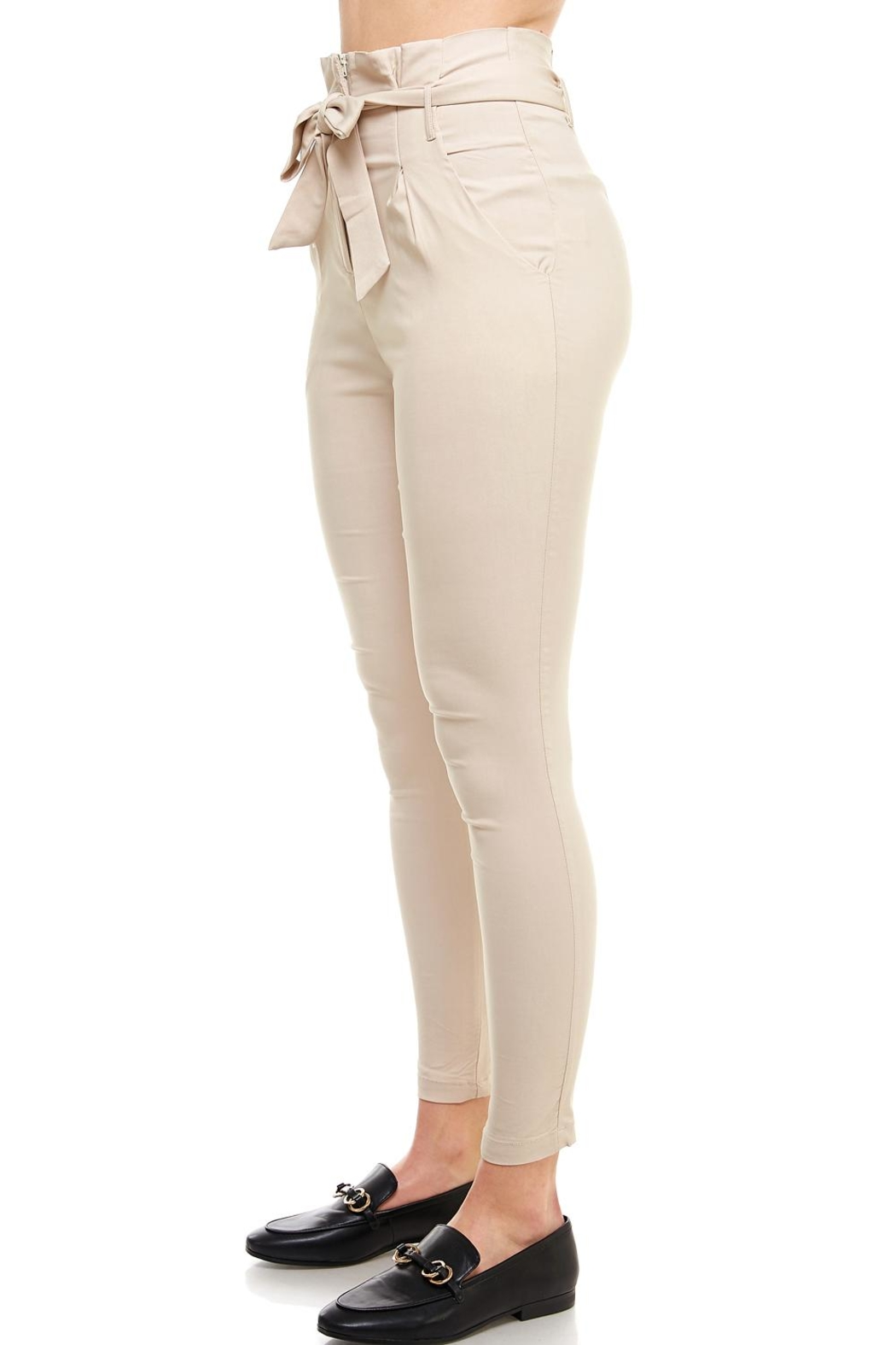 Better Be Belted Skinny Pants - Side Cropped Image