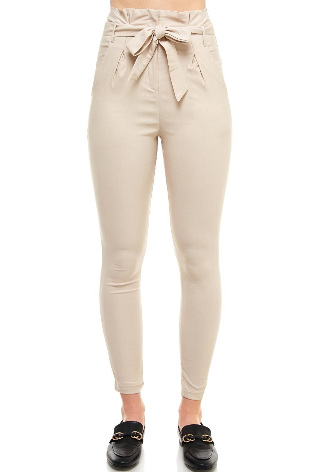 Better Be Belted Skinny Pants - Main Image