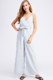 Petalroz Belted Stripe Jumpsuit - Product Mini Image