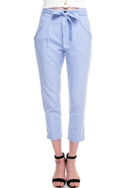 HYFVE Belted Stripe Trousers - Product Mini Image