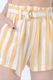 Love Tree Belted Striped Shorts - Product Mini Image