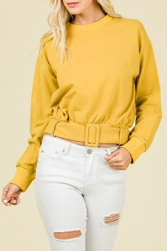 Shoptiques Product: Belted Sweater Top