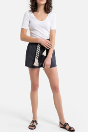 See U Soon Belted Texture Short - Front full body