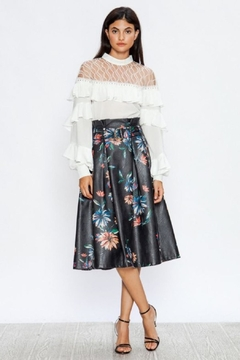 Shoptiques Product: Belted Vegan-Leather Skirt