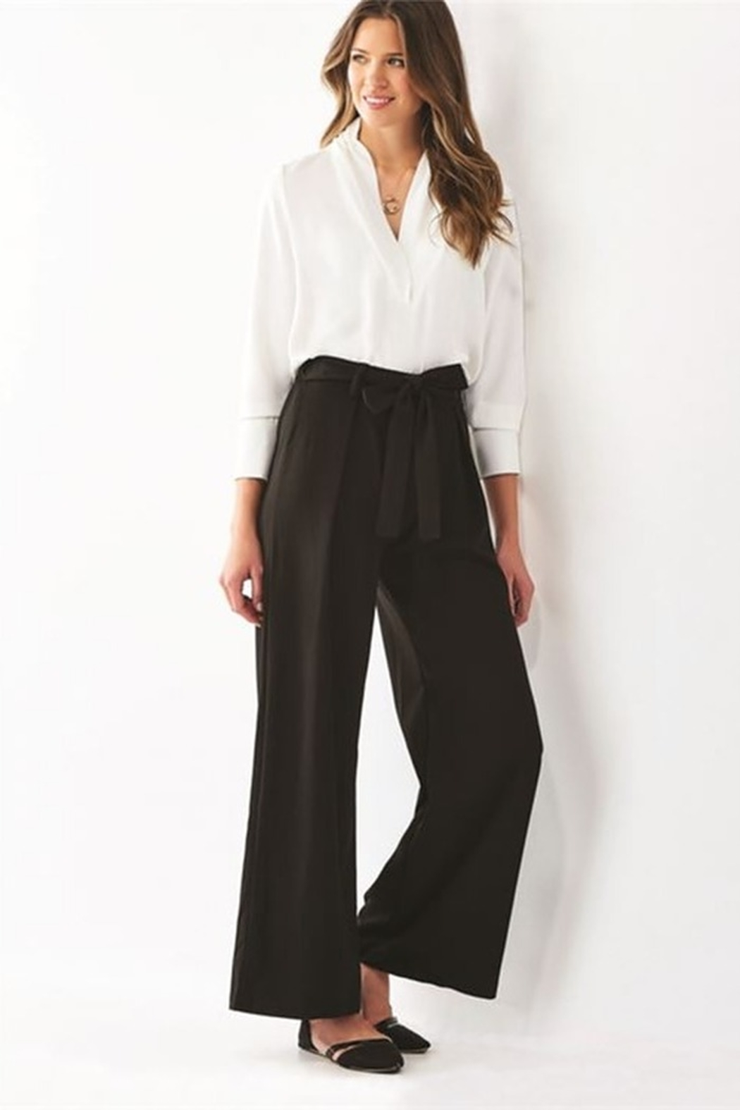 Charlie Paige Belted Wide Leg Pant - Main Image