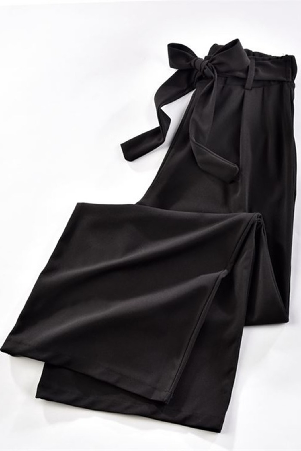 Charlie Paige Belted Wide Leg Pant - Front Full Image