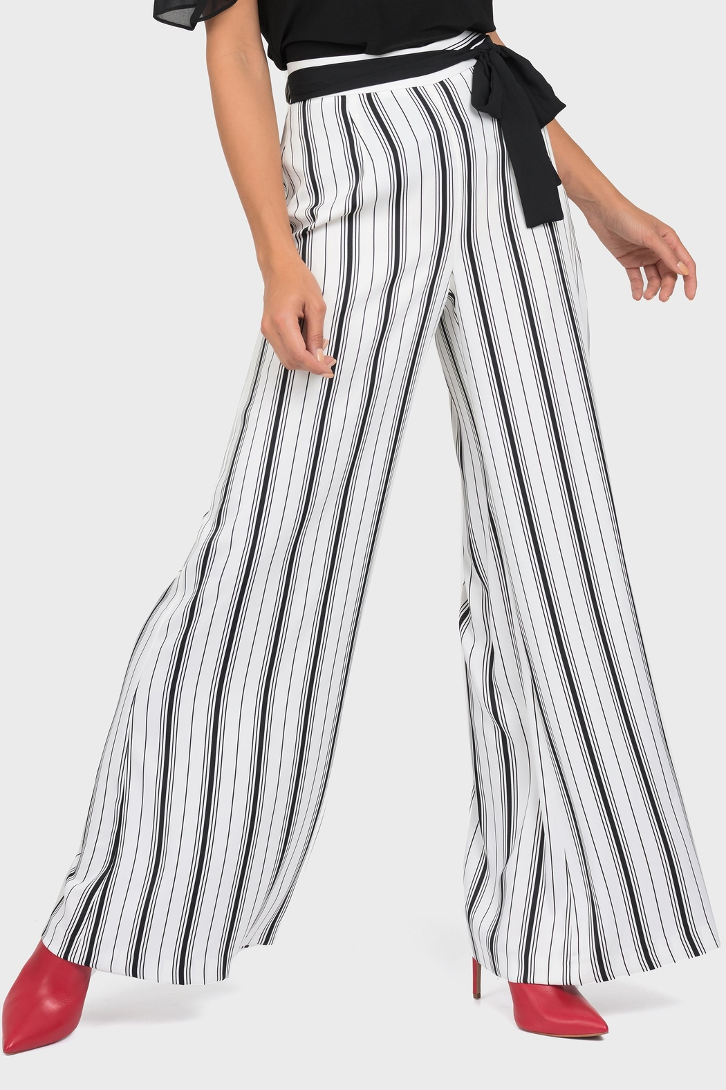 Joseph Ribkoff Belted Wide-Leg Pant - Front Cropped Image
