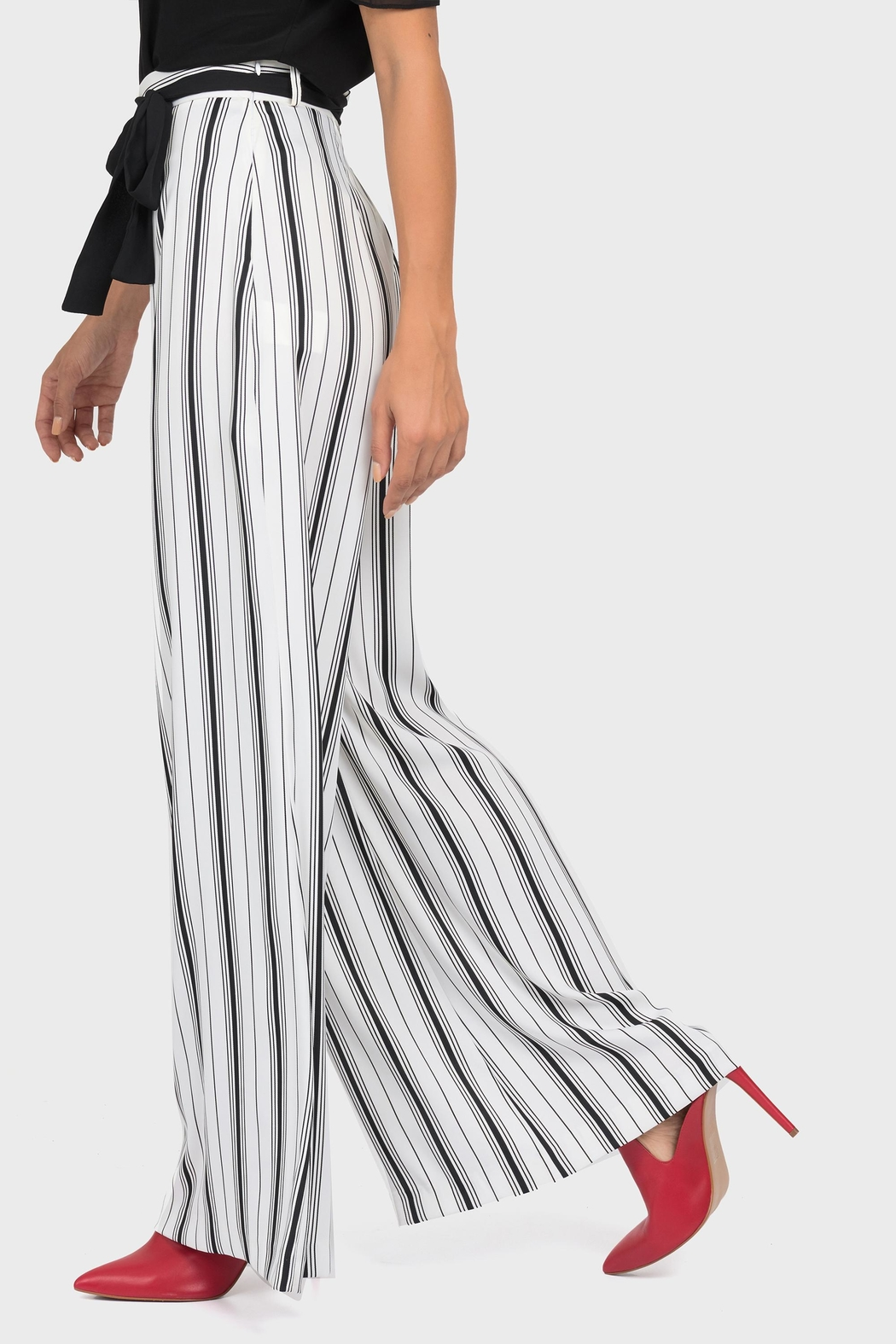 Joseph Ribkoff Belted Wide-Leg Pant - Front Full Image