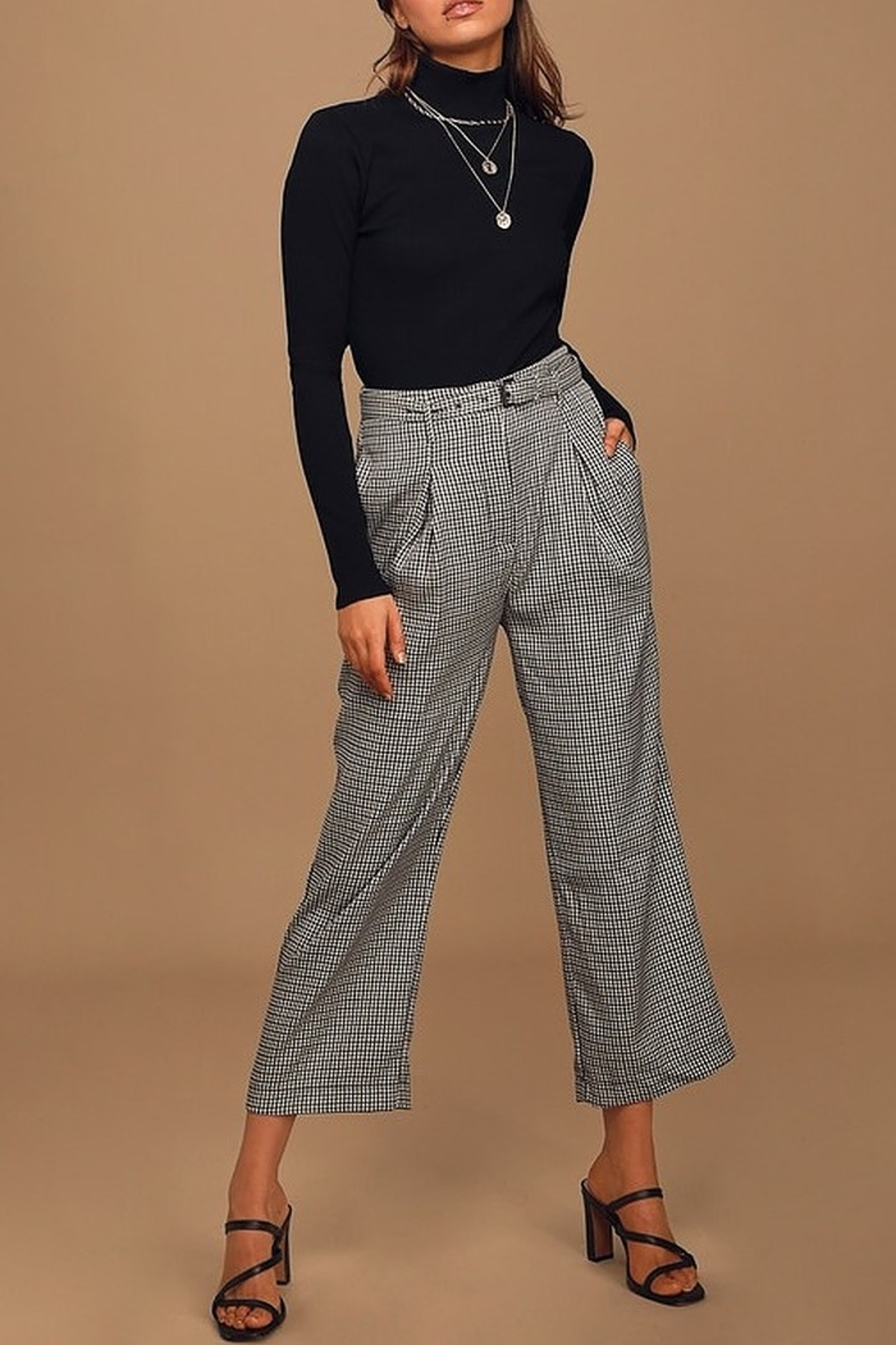 Moon River Belted Wide Leg Trouser - Main Image