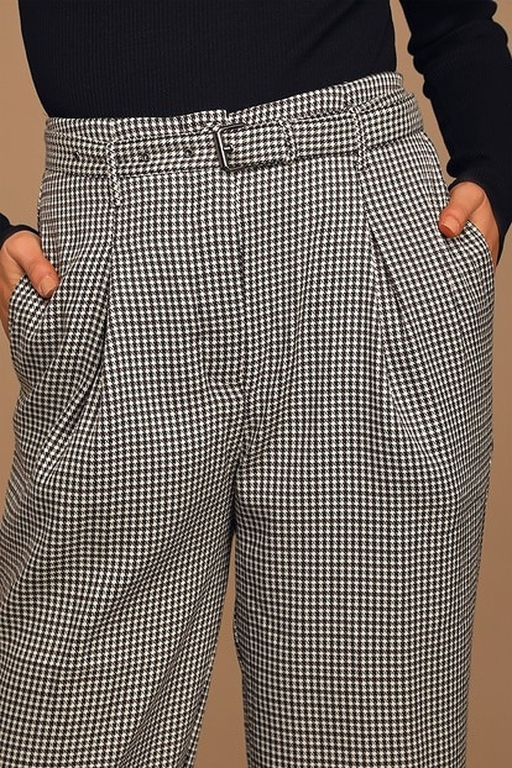 Moon River Belted Wide Leg Trouser - Front Full Image