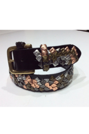 DiJore Belts-Wide Leather with Brass, Copper, Pewter and Silver Metal Embellieshment - Product Mini Image