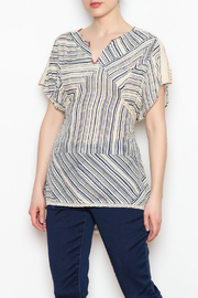 Benares Contrast Stitched Top - Product Mini Image