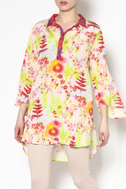Benares Floral Tunic Top - Product Mini Image