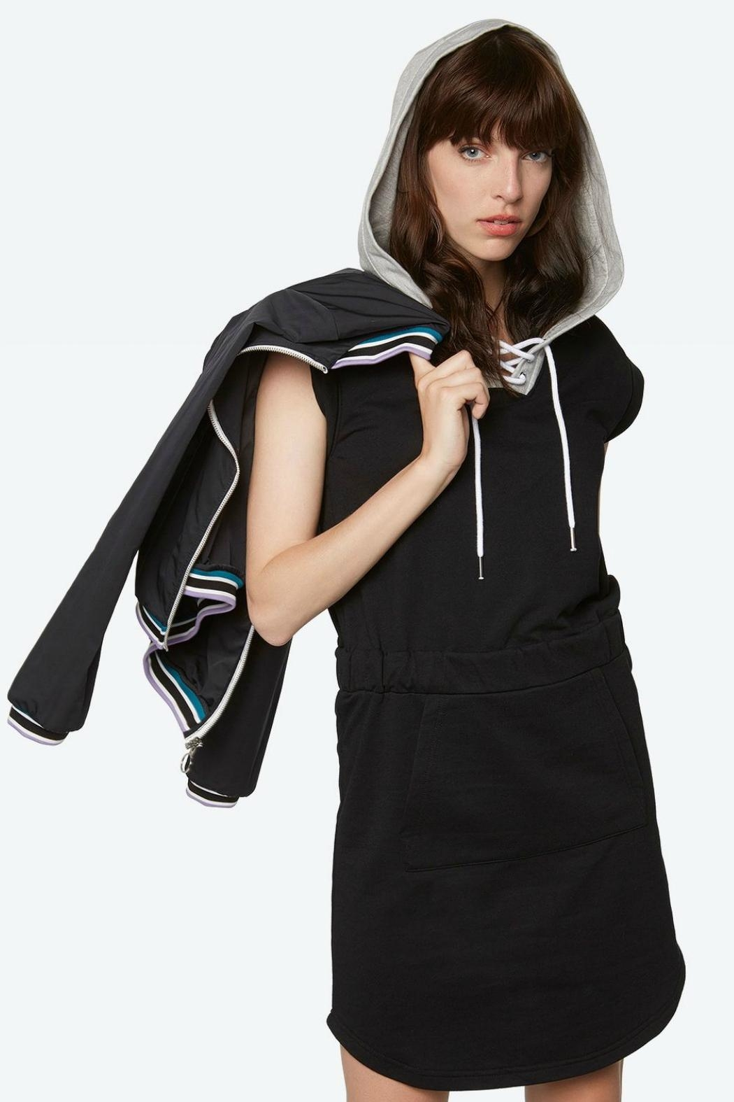 Bench Hoody Dress - Front Full Image