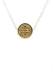 My Saint My Hero Benedictine Two-Tone Necklace - Product Mini Image