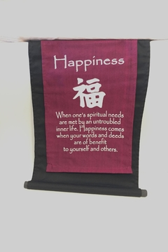 Shoptiques Product: Happiness Fabric Banner
