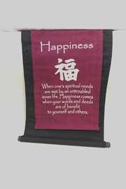 Benjamin International Happiness Fabric Banner - Product Mini Image