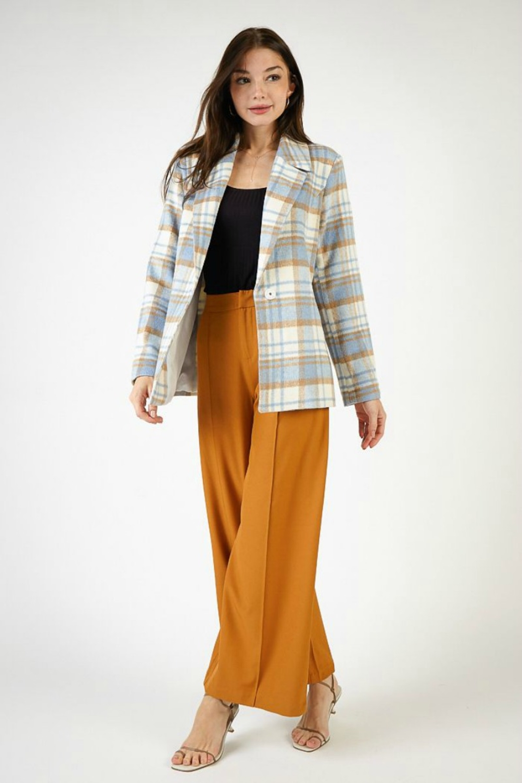 SAGE THE LABEL BENJY PLAID JACKET - Front Cropped Image