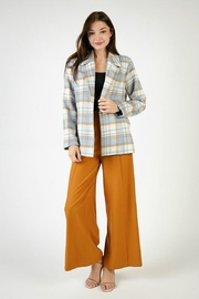 SAGE THE LABEL BENJY PLAID JACKET - Front full body