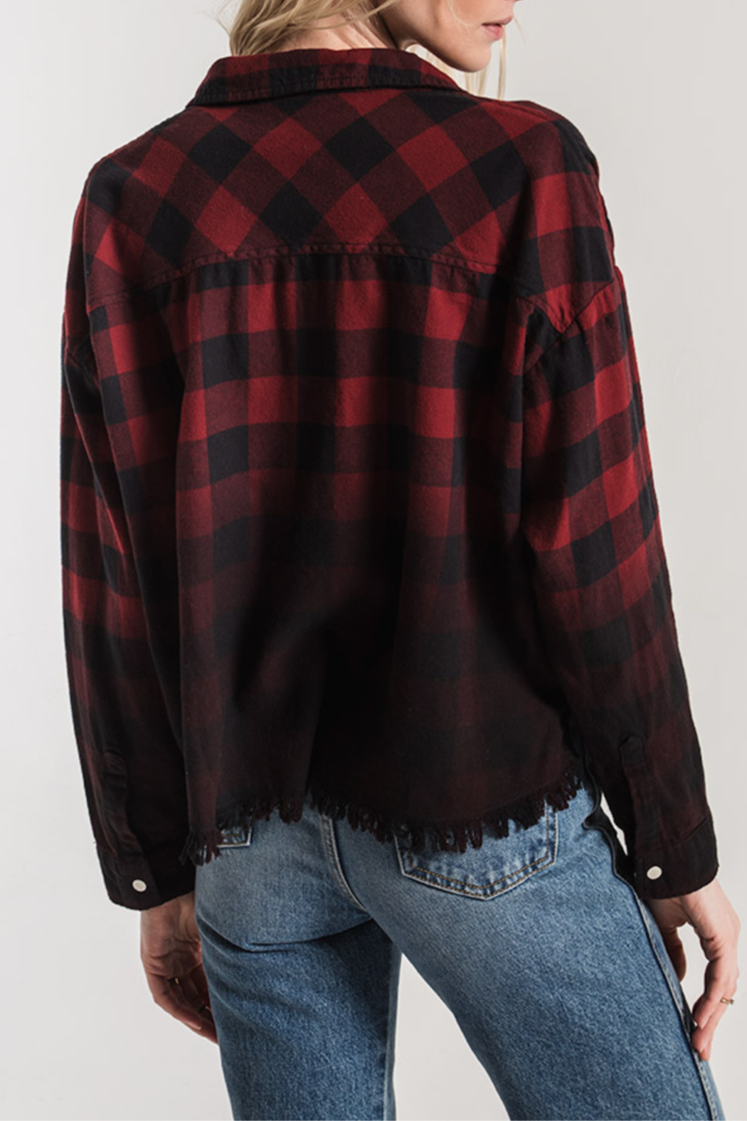 White Crow Benson Flannel Crop Top/Jacket - Side Cropped Image